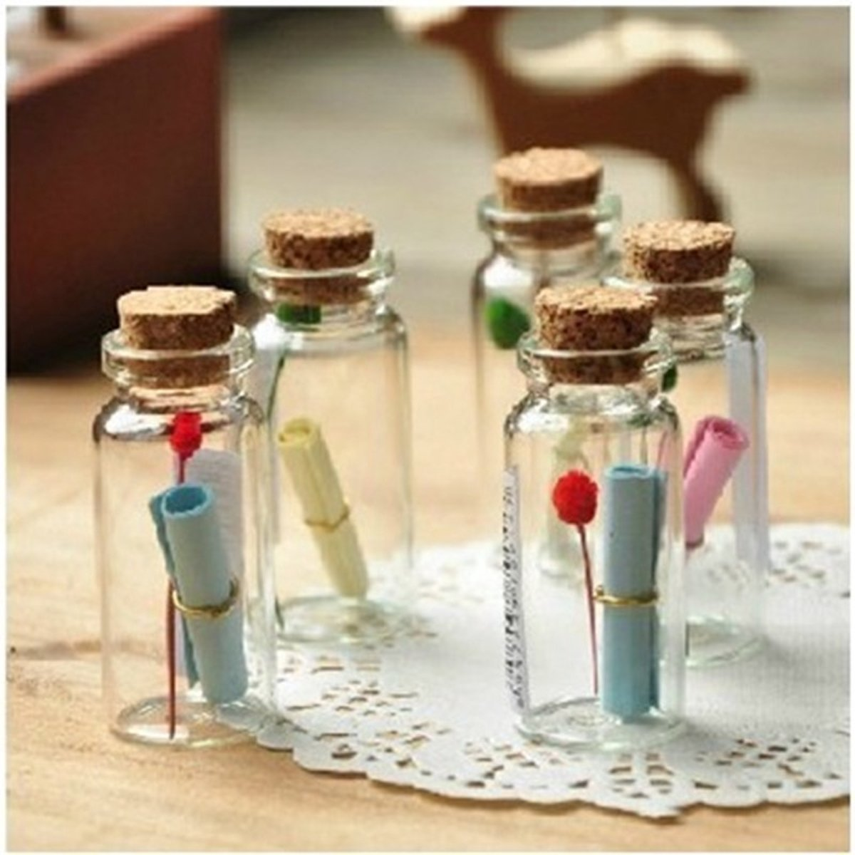 Favoriete bol.com | Glazen Mini Flesjes 0,5 ml Met Kurk - 50 Stuks &WE14