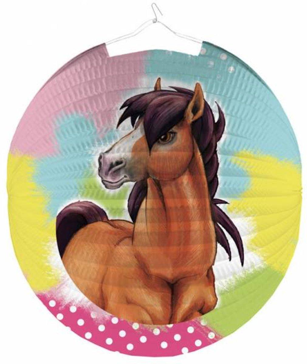 Paarden Lampion Bol 25cm kopen
