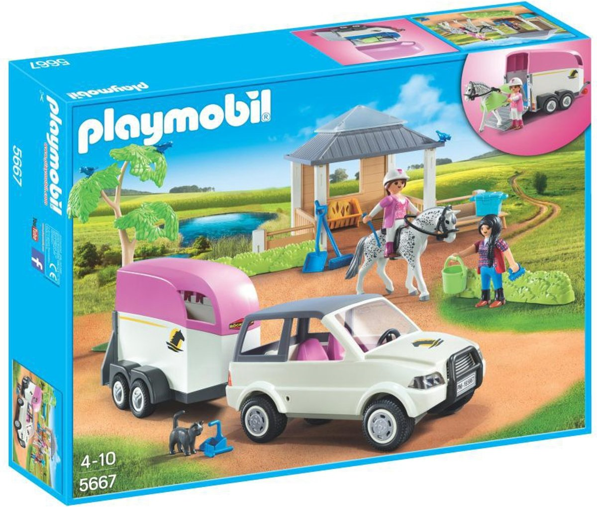 Playmobil paarden transporter
