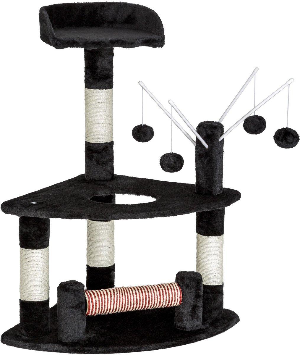 TecTake kattenkrabpaal - Mitzi - 90 cm hoog - zwart - 402086