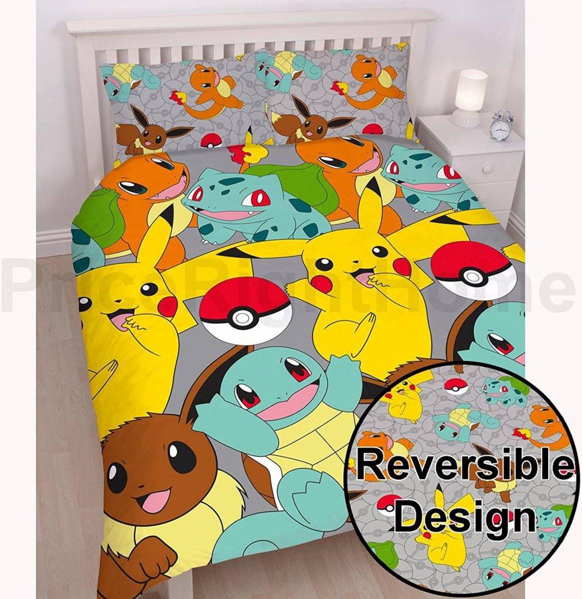 Pokemon Catch - Dekbedovertrek - Tweepersoons - 200 x 200 cm - Multi kopen