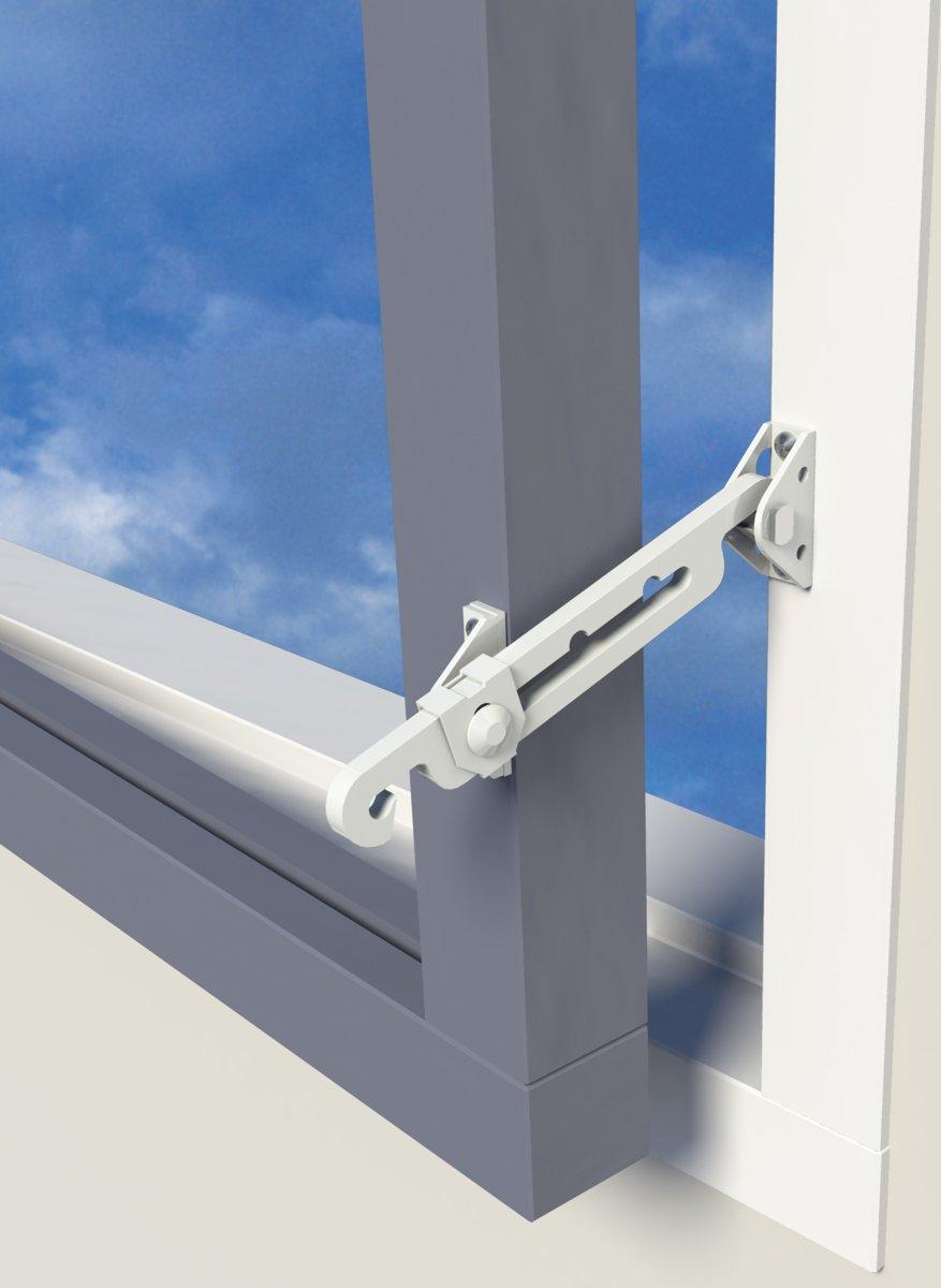 Secu Max Raamuitzetter - Voor naar binnen draaiende ramen - Wit