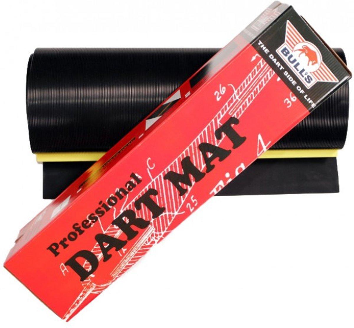 BULL'S Dartmat Rubber + Lijn 300x60 cm - Zwart kopen
