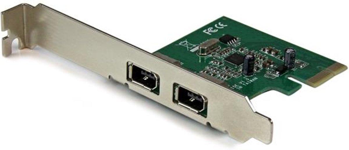 StarTech.com 2-poorts 1394a PCI Express FireWire-kaart PCIe FireWire-adapter kopen