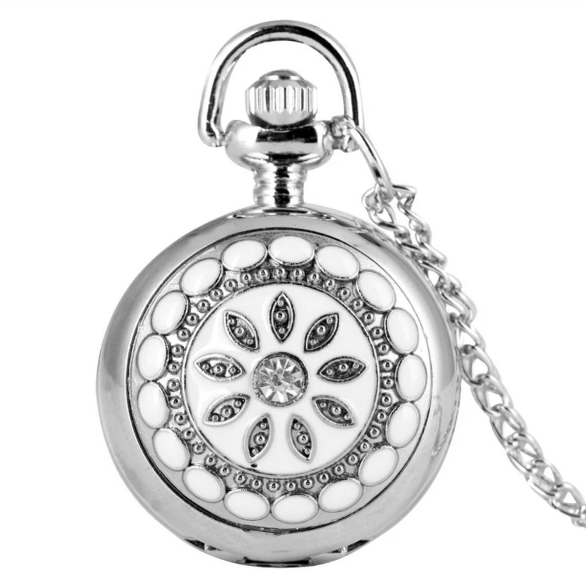 Treasure Trove® Ketting Horloge Vrouwen Bling Steentjes - Dames horloge - 78cm kopen