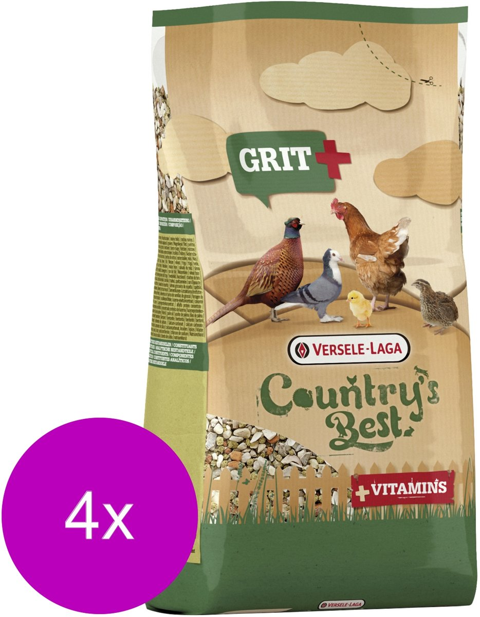 Versele-Laga Country`s Best Grit Plus - Kippenvoer - 4 x 1.50 kg