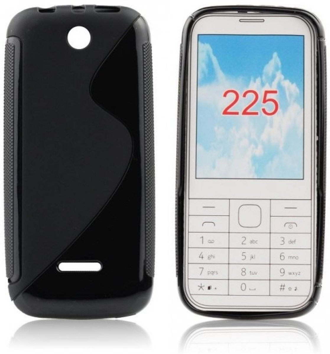Image of Nokia 225 Silicon Hoesje - S-Line Black (8719321195259)