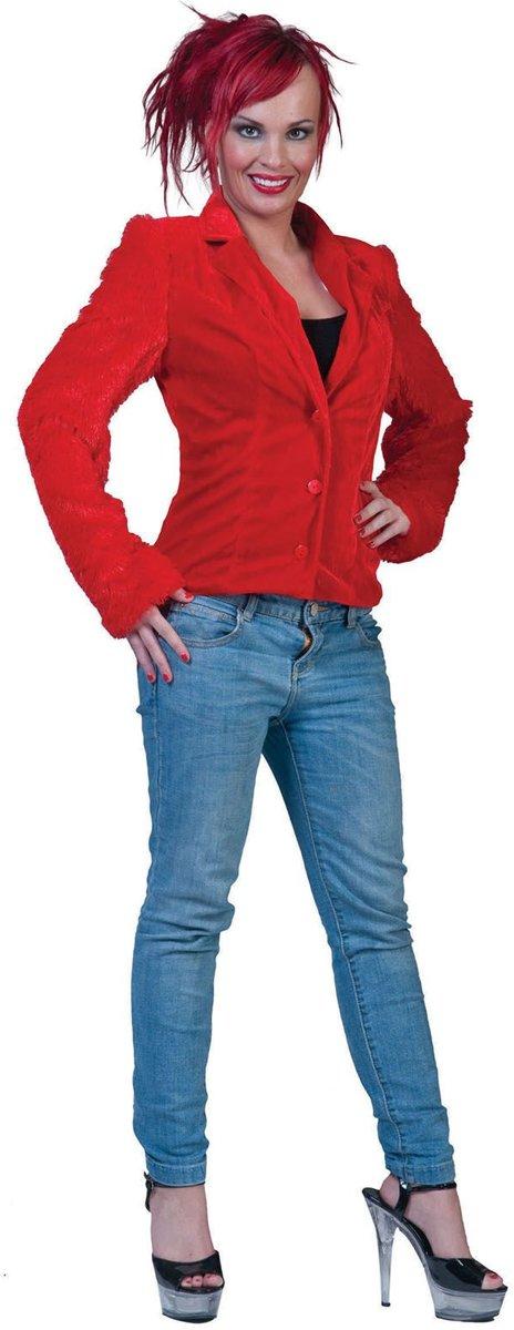 Bontje Rood fuzzy jacket