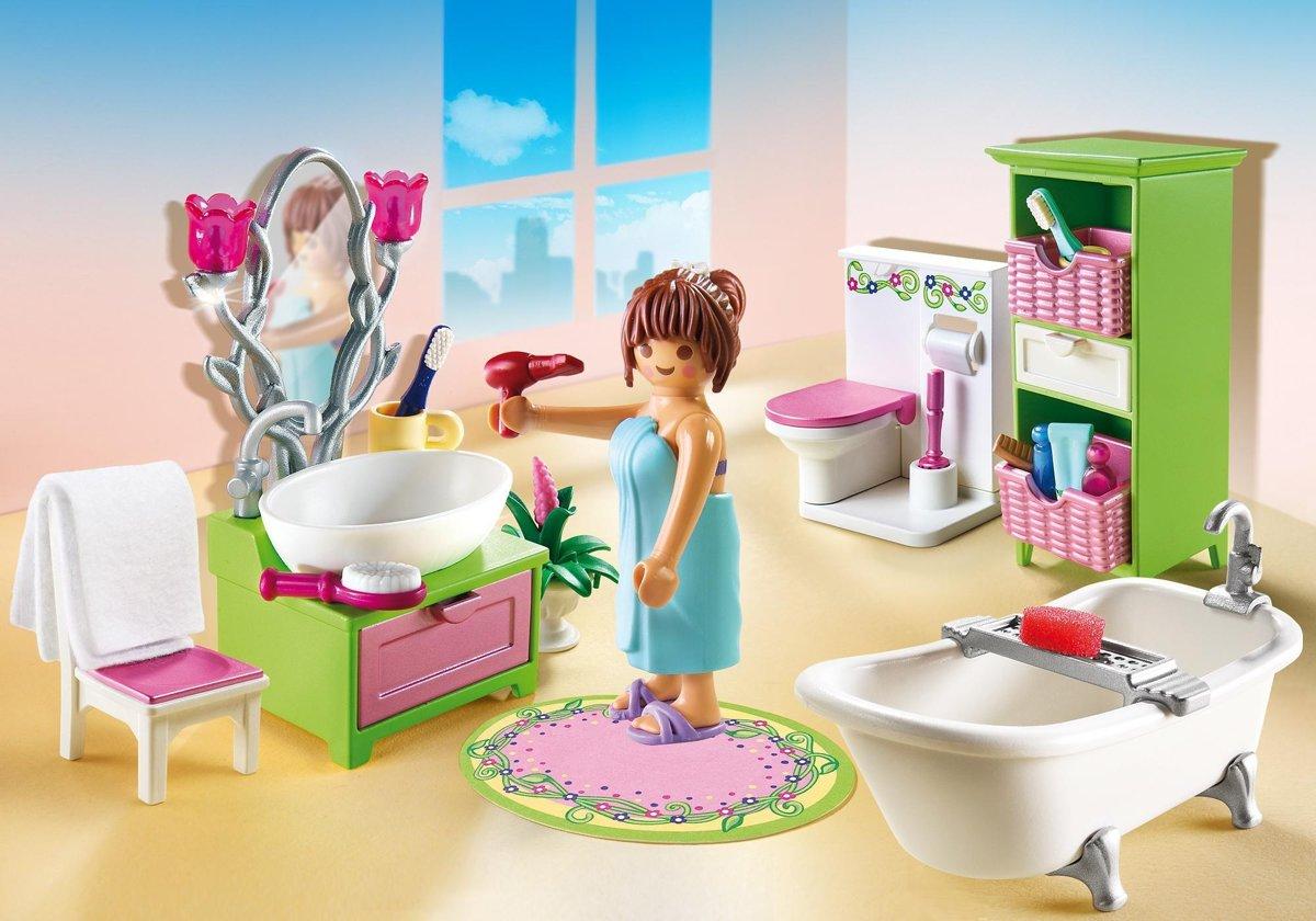 Playmobil Dollhouse Slaapkamer : Bol playmobil dollhouse badkamer met bad op pootjes