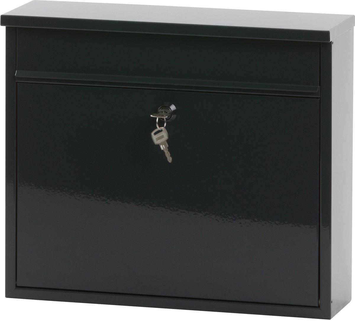 Stalen brievenbus antraciet - 11x36x31,5 cm
