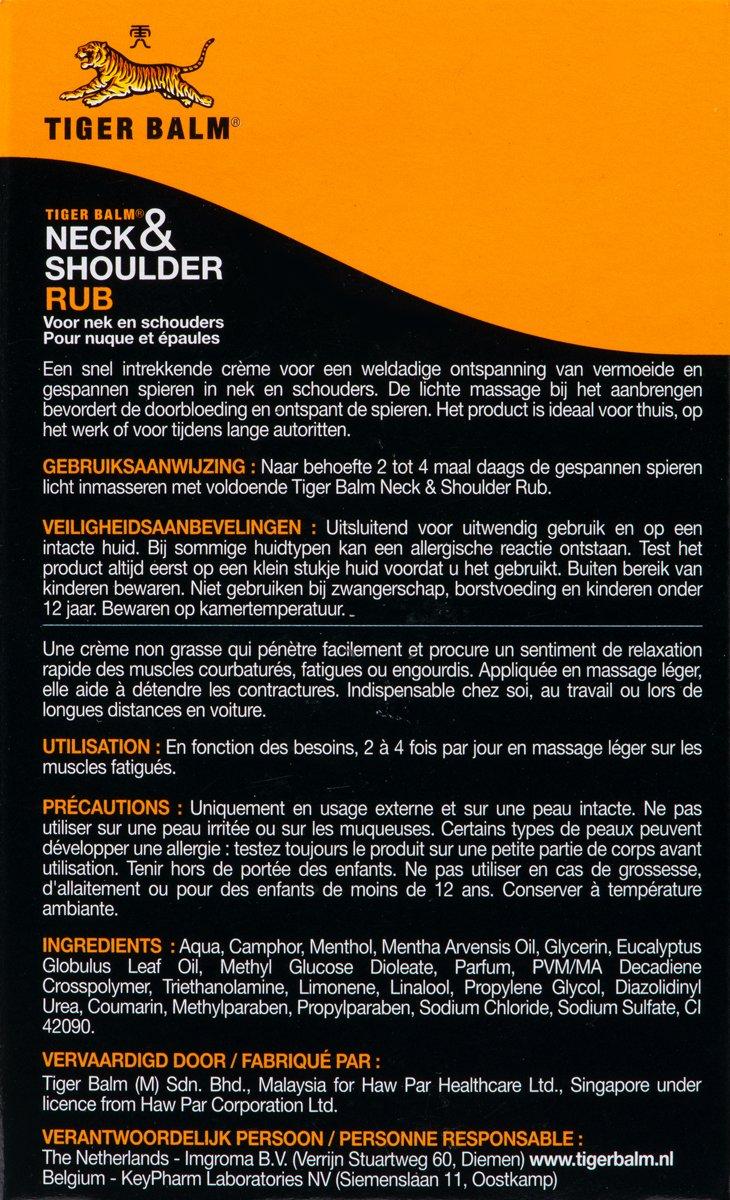 Tijger Balm Neck Shoulder Bodycrme 50 Gr Balsem Tiger Oil