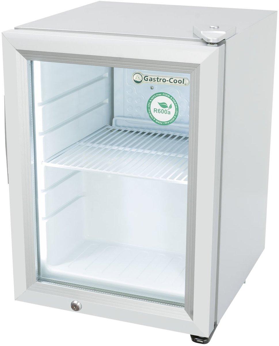 Gastro-Cool KW25 - Mini koelkast met glazen deur 23 Liter - Zilver/Zilver/Wit 247401 kopen