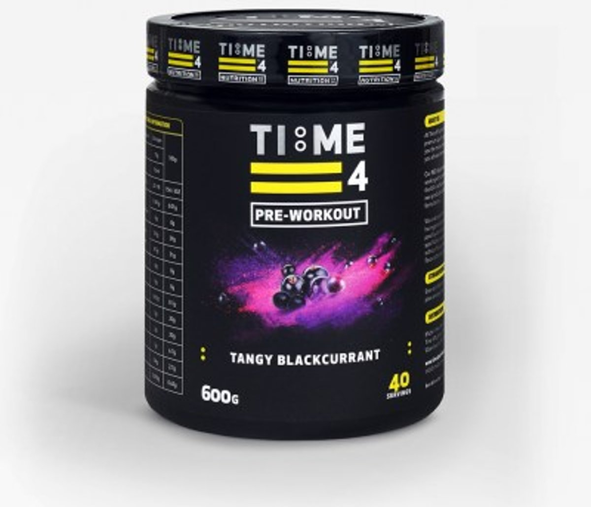 Time 4 Nutrition - Pre Workout - Tangy Blackcurrant - 600g - 40 servings kopen