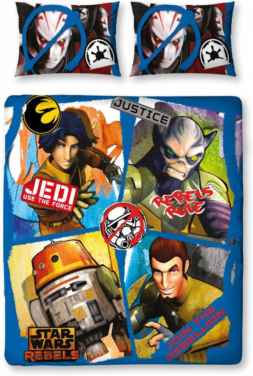 Star Wars Rebels - Dekbedovertrek - Tweepersoons - 200 x 200 cm - Multi kopen