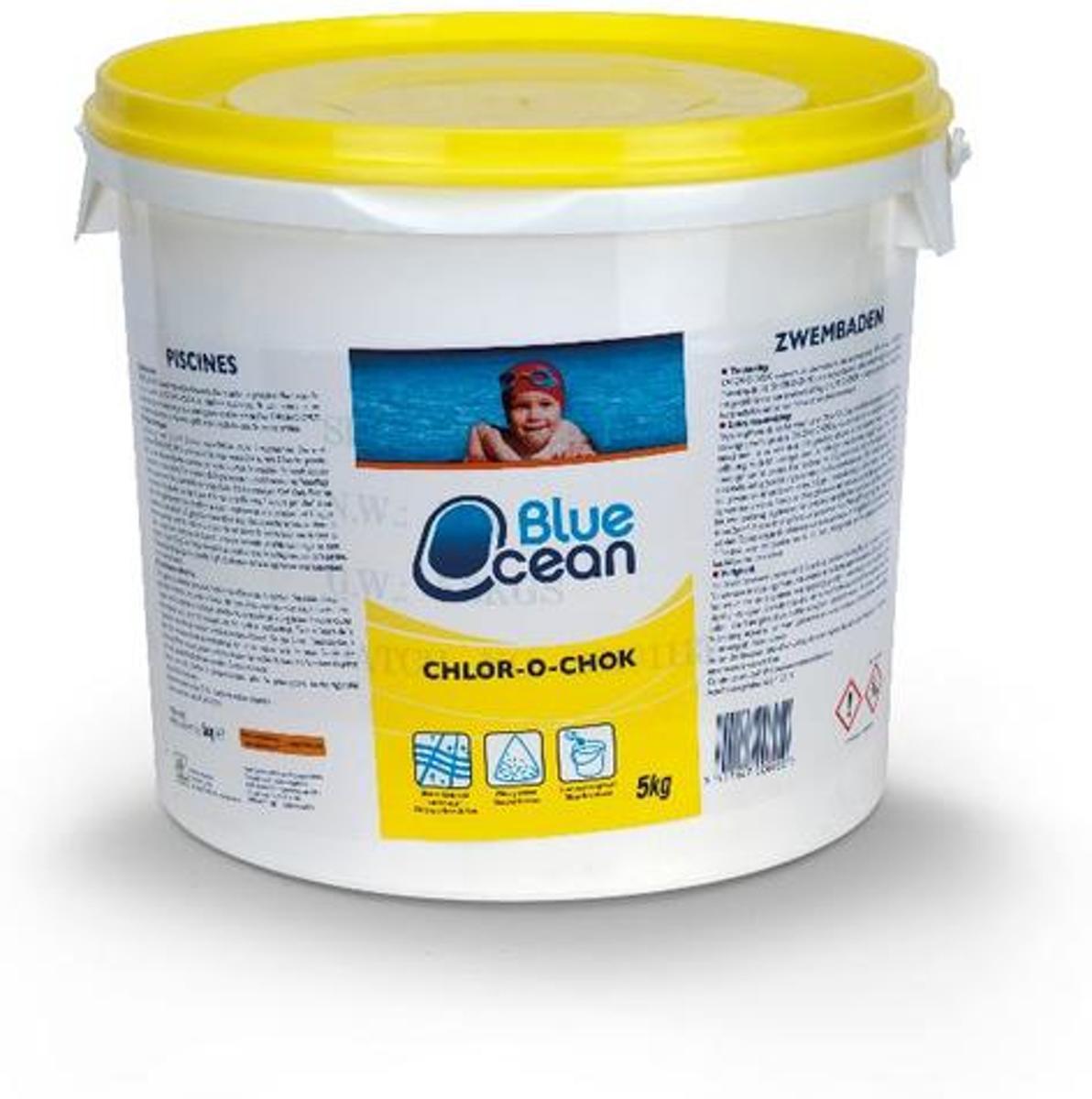 Chloor Zwembad Granulaat 5kg Chlor-o-chok Blue Ocean
