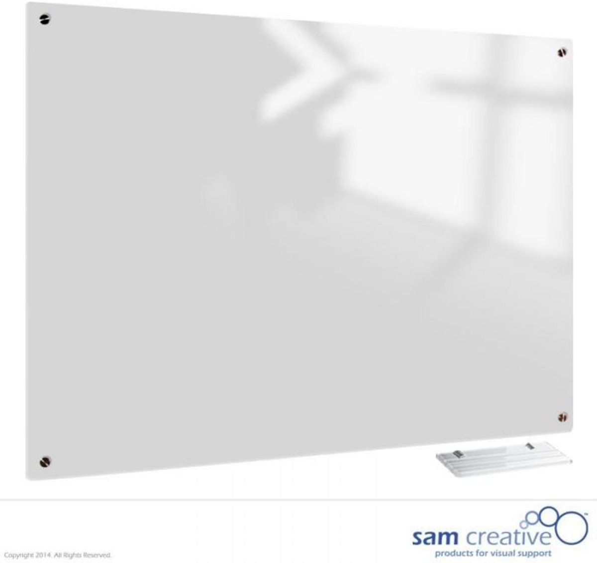 Afbeelding van product Sam Creative  Glassboard White Magnetic 60x90 cm
