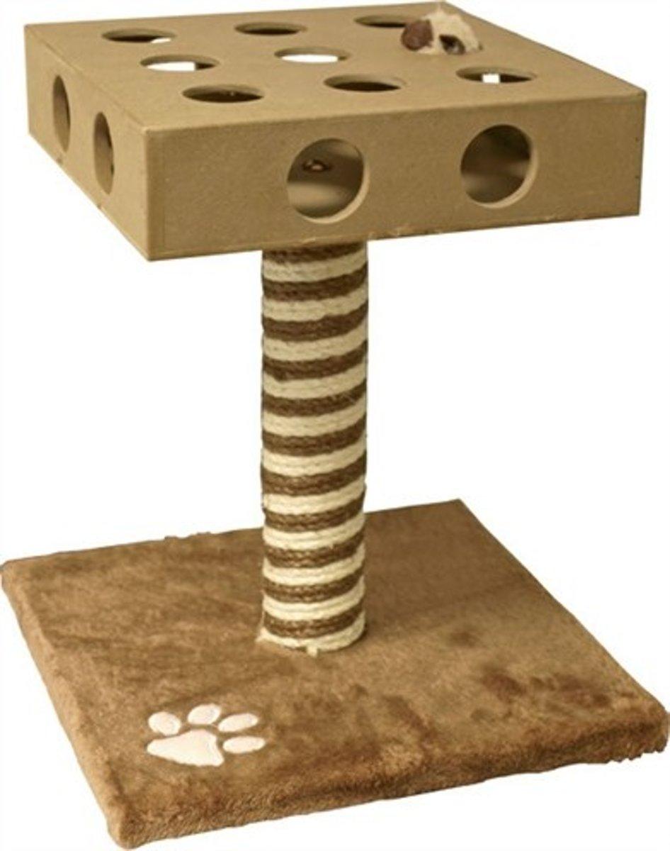 Merkloos Klimmeubel Met Speelbox Nobel Bruin/Beige - 39 CM