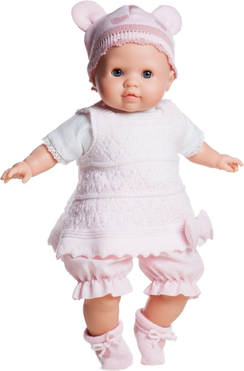 Paola Reina Pop Manus Lola (36cm) geklede babypop
