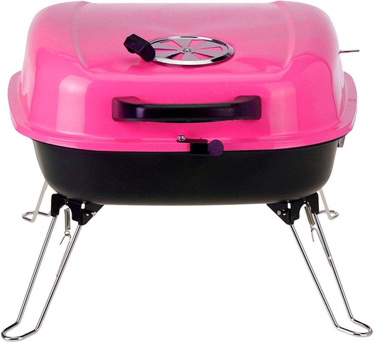 BBQ Collection Tafelbarbecue met voorraadrek - Roze kopen