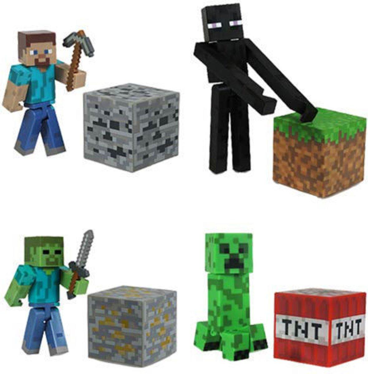Minecraft Figure Toy 9 Stuks