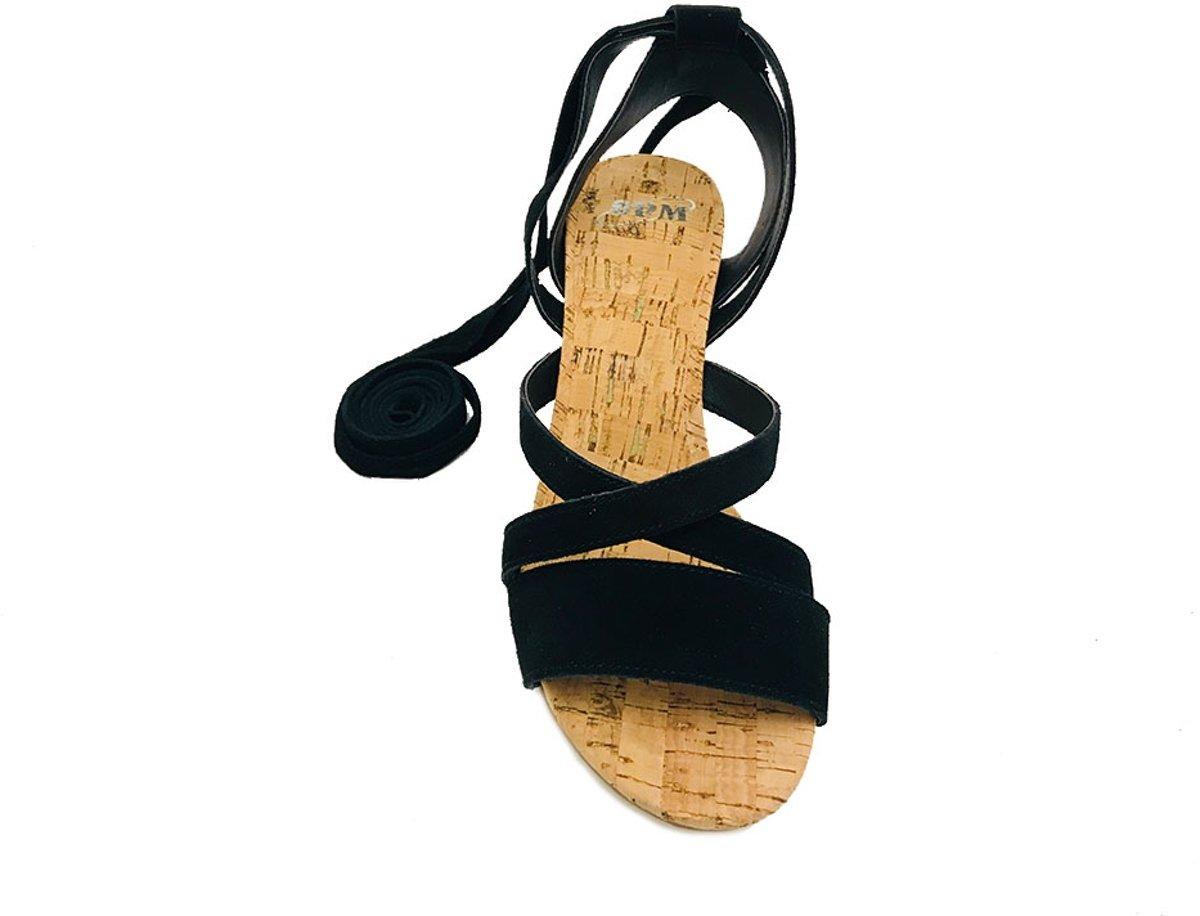 Zwarte Sandales En Daim Spm Avrola s8HXn
