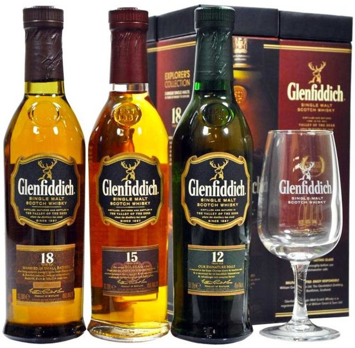 Glenfiddich Scotch Whiskey degustatieglazen 6st 12cl kopen