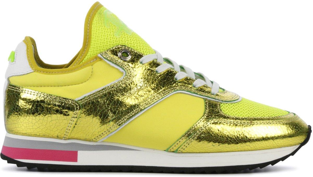 e8ff734686c bol.com | Floris Van Bommel Dames Sneakers 85261 - Geel - Maat 38