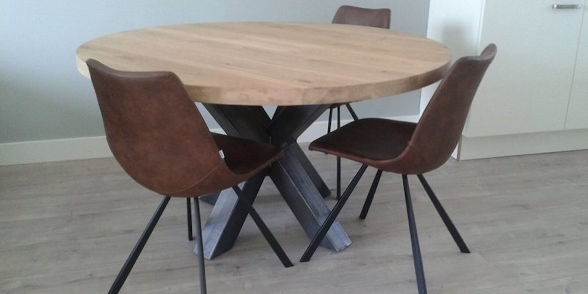 Ronde Eiken Eettafel 100 Cm.Bol Com Table Du Sud Ronde Eiken Xx Tafel 100 Cm