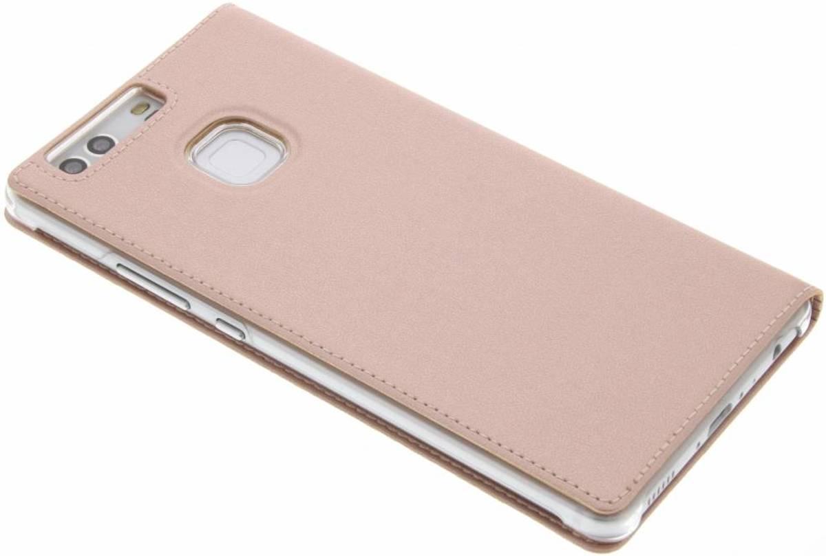 Fenêtre De Type Livre Intelligent Rose Pour P9 Huawei, Plus