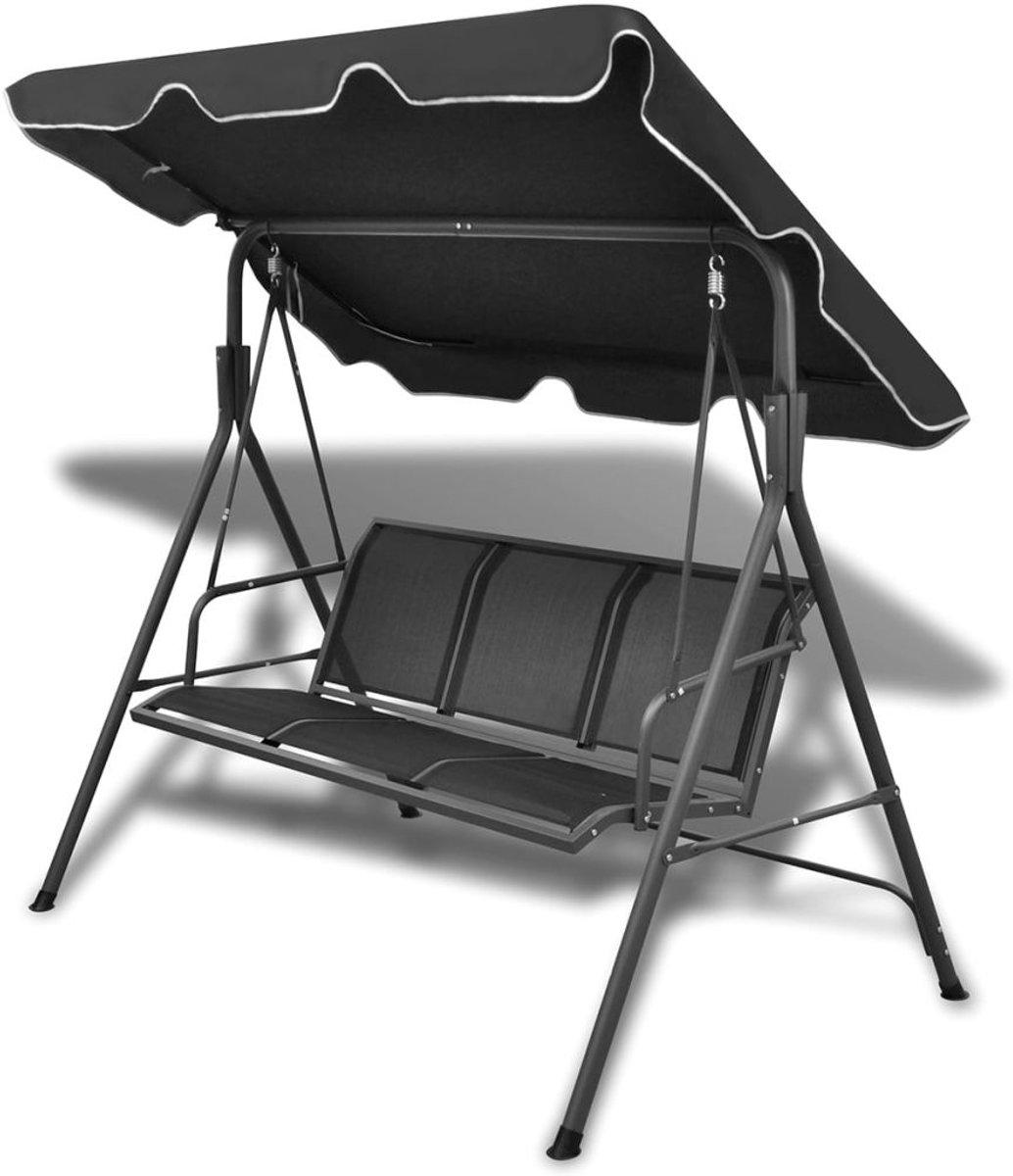 Schommelstoel voor in de tuin (zwart) kopen