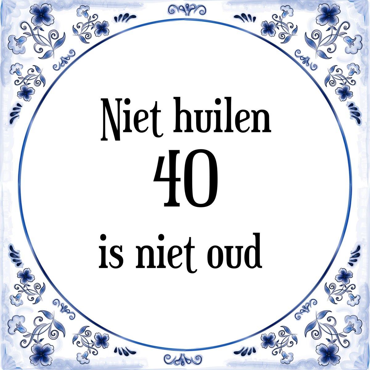 Bol Com Verjaardag Tegeltje Met Spreuk 40 Jaar Niet Huilen 40 Is
