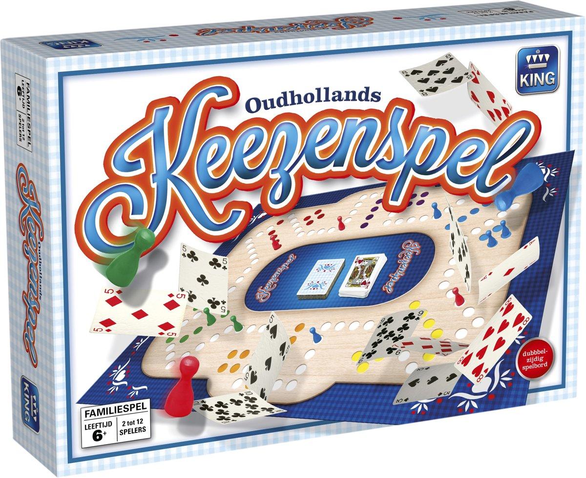 Oud Hollands Keezenspel - Bordspel Keezen - Tweezijdig Speelbord