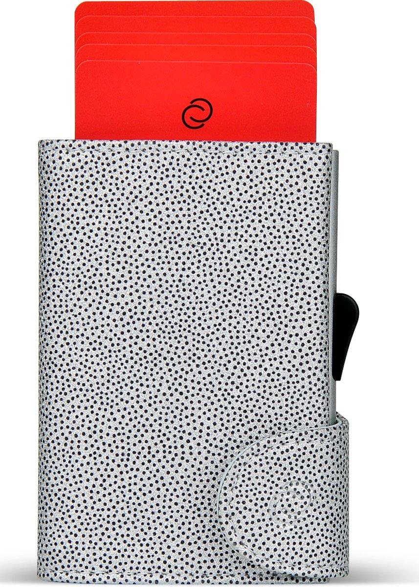 32c6b9e2b60 ... Pasjes portemonnee voor vrouwen - Trendy Pasjeshouder met Aluminium  card holder en ruimte voor Briefgeld, ...