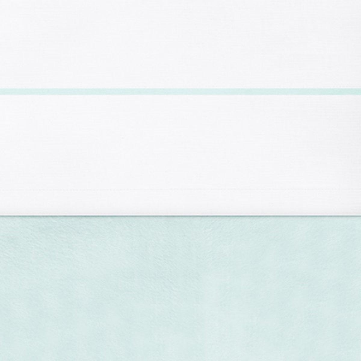 Jollein - Ledikantlaken 120x150 cm - Wit/Jade
