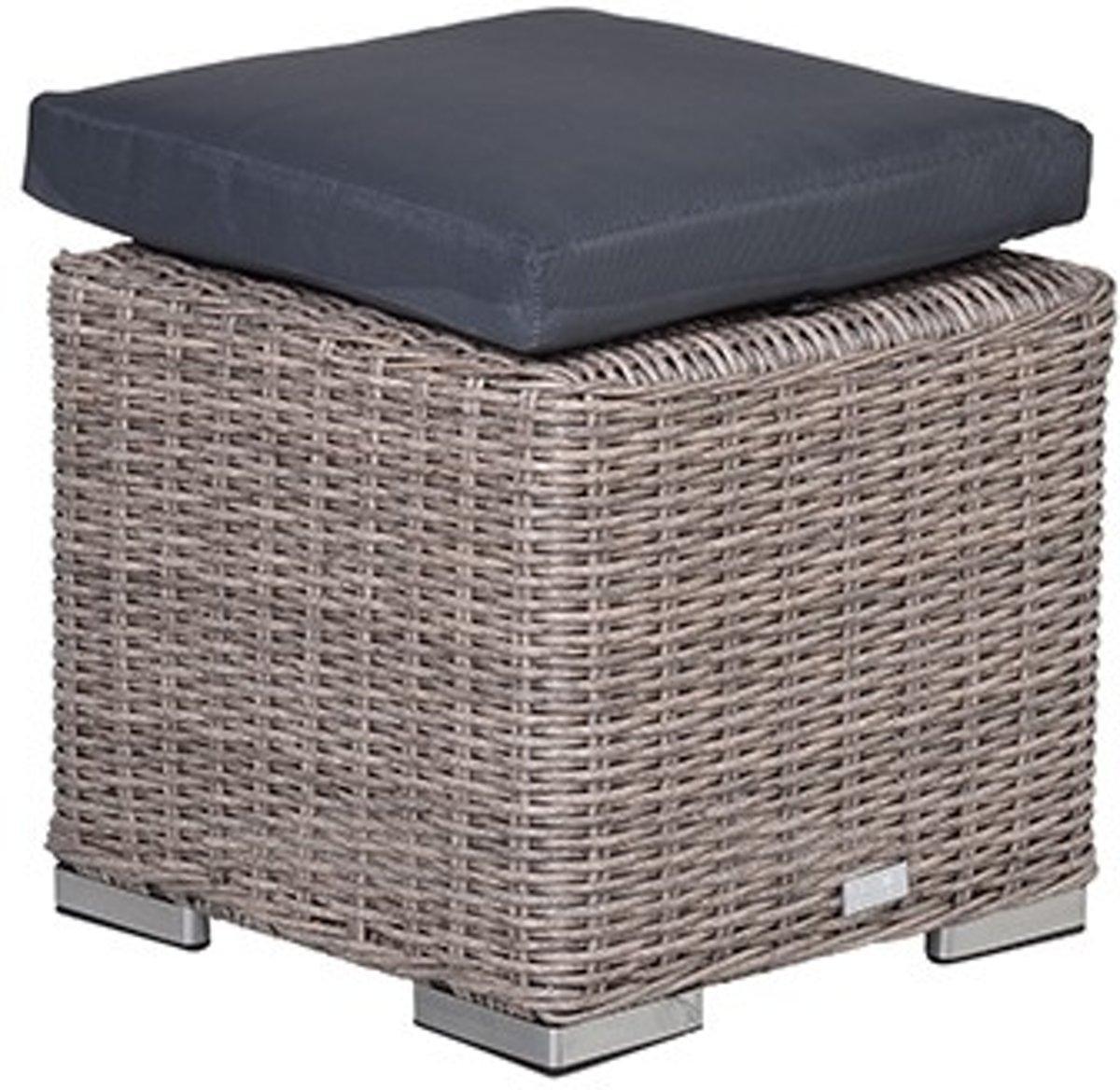 Garden Impressions - Tennessee hocker - 45x45 - organic grey/antraciet kopen