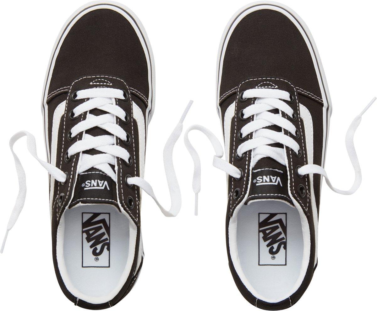 2b499ef6f4b bol.com | Vans Ward Platform Sneakers Dames - Maat 38 - (Canvas) Black/White