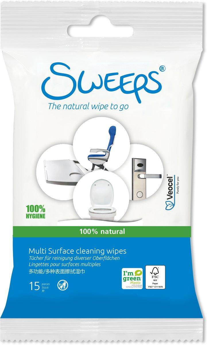 Sweeps Toiletdoekjes (12 reisverpakkingen: 12x15 stuks) kopen