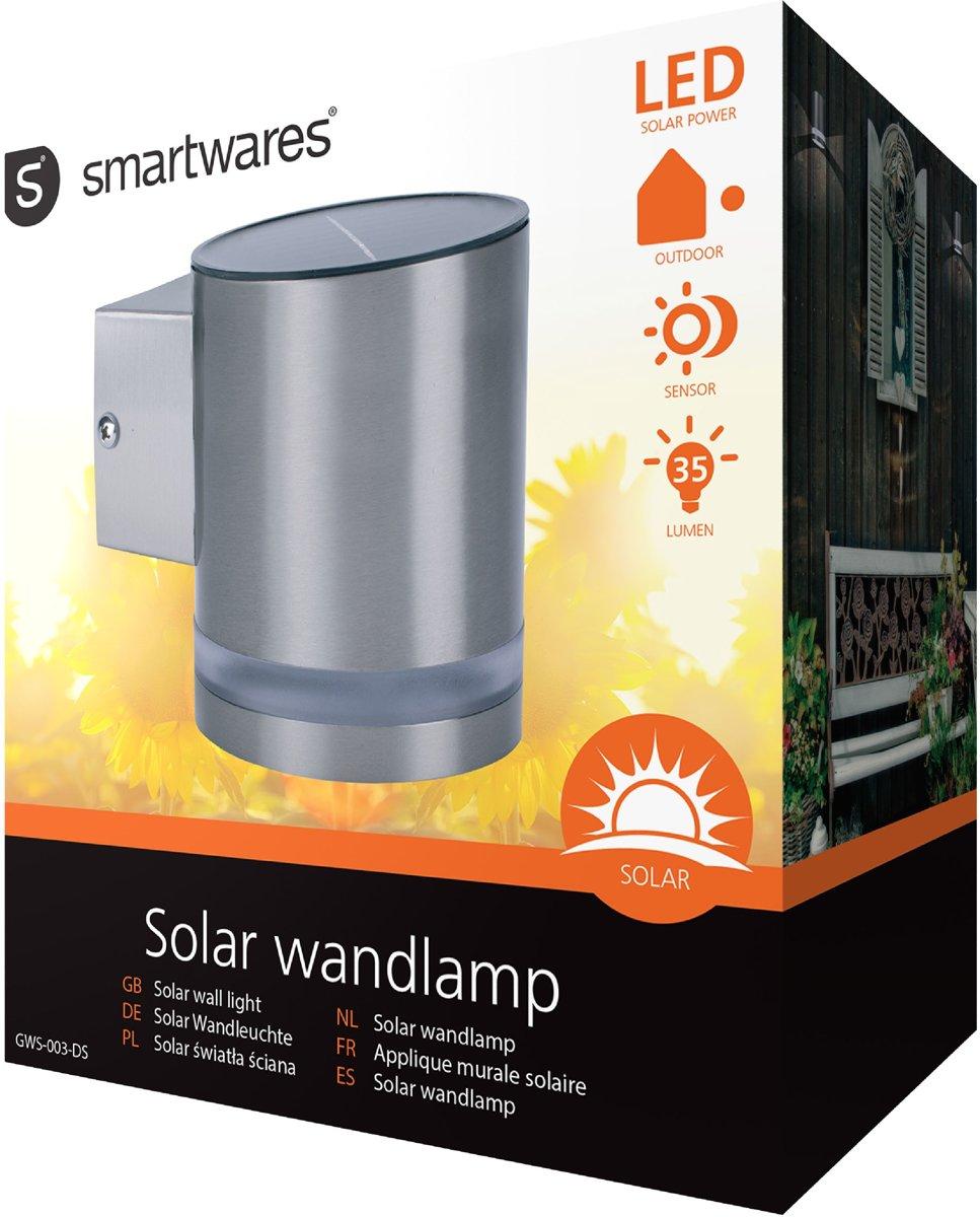 Solar Wandlamp Tuin : Bol smartwares gws ds led solar wandlamp met dag en