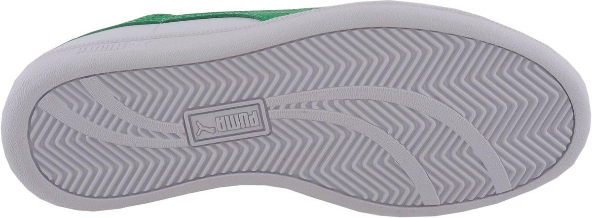 L Smash Chaussures Puma - Taille 44,5 - Unisexe - Blanc / Rouge