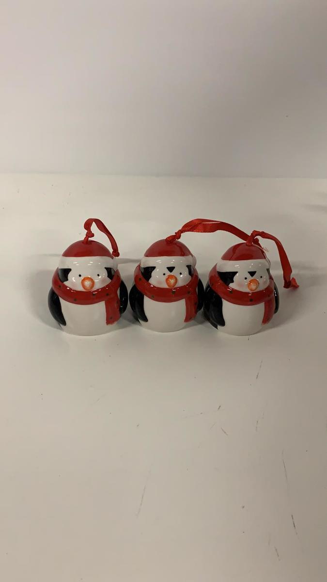 Porseleinen kerstballen - 3 stuks kopen