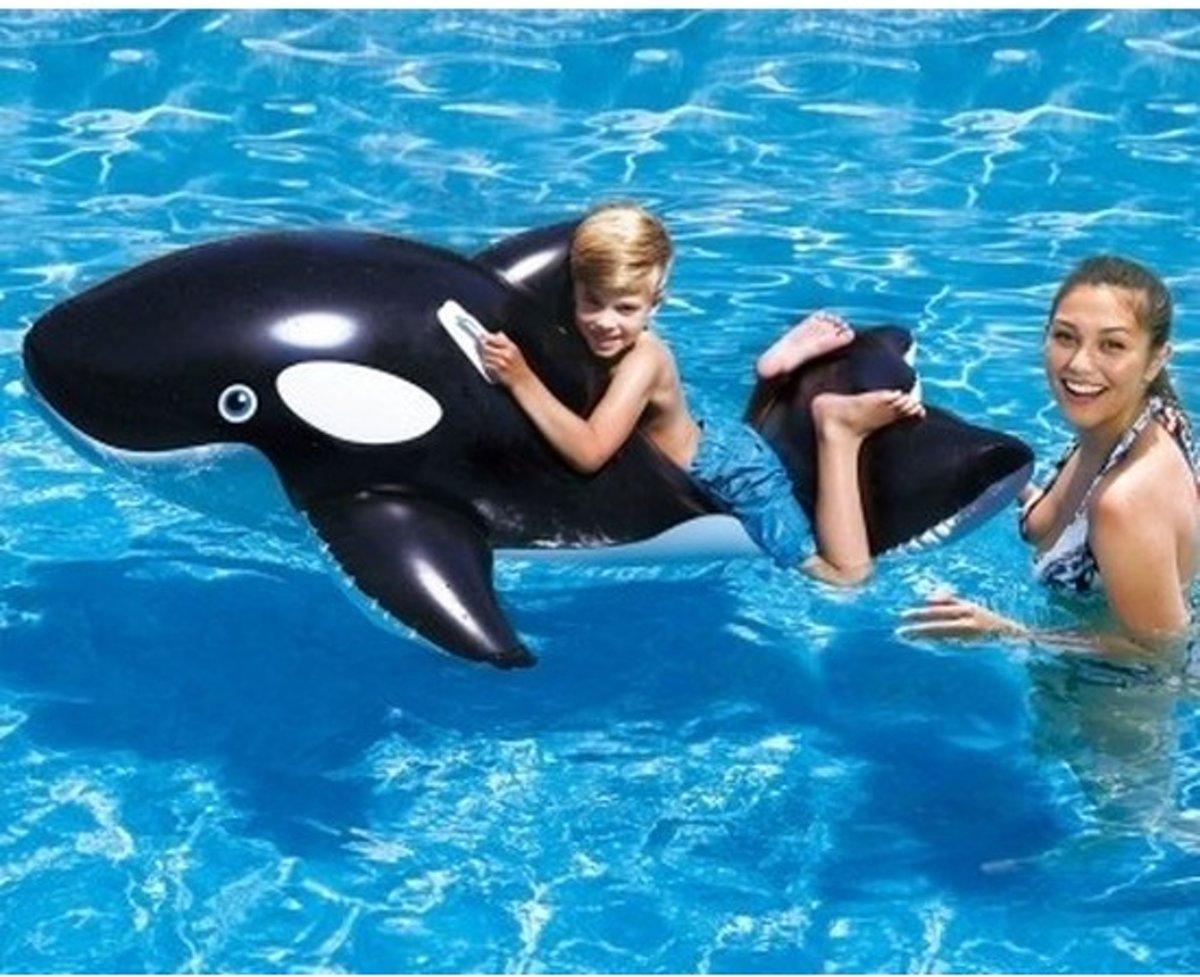 Bestway opblaasbare orka 127 cm - Buitenspeelgoed waterspeelgoed - Opblaasdieren ride-ons