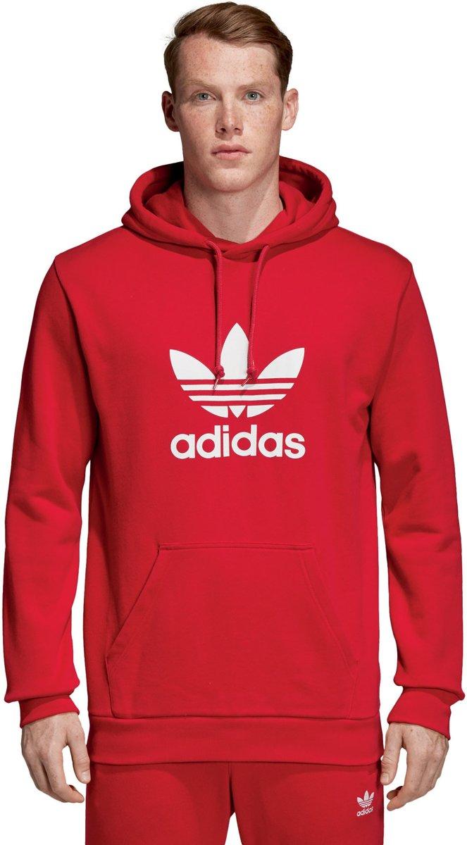 adidas Trefoil Sporttrui Maat XL Mannen roodwit