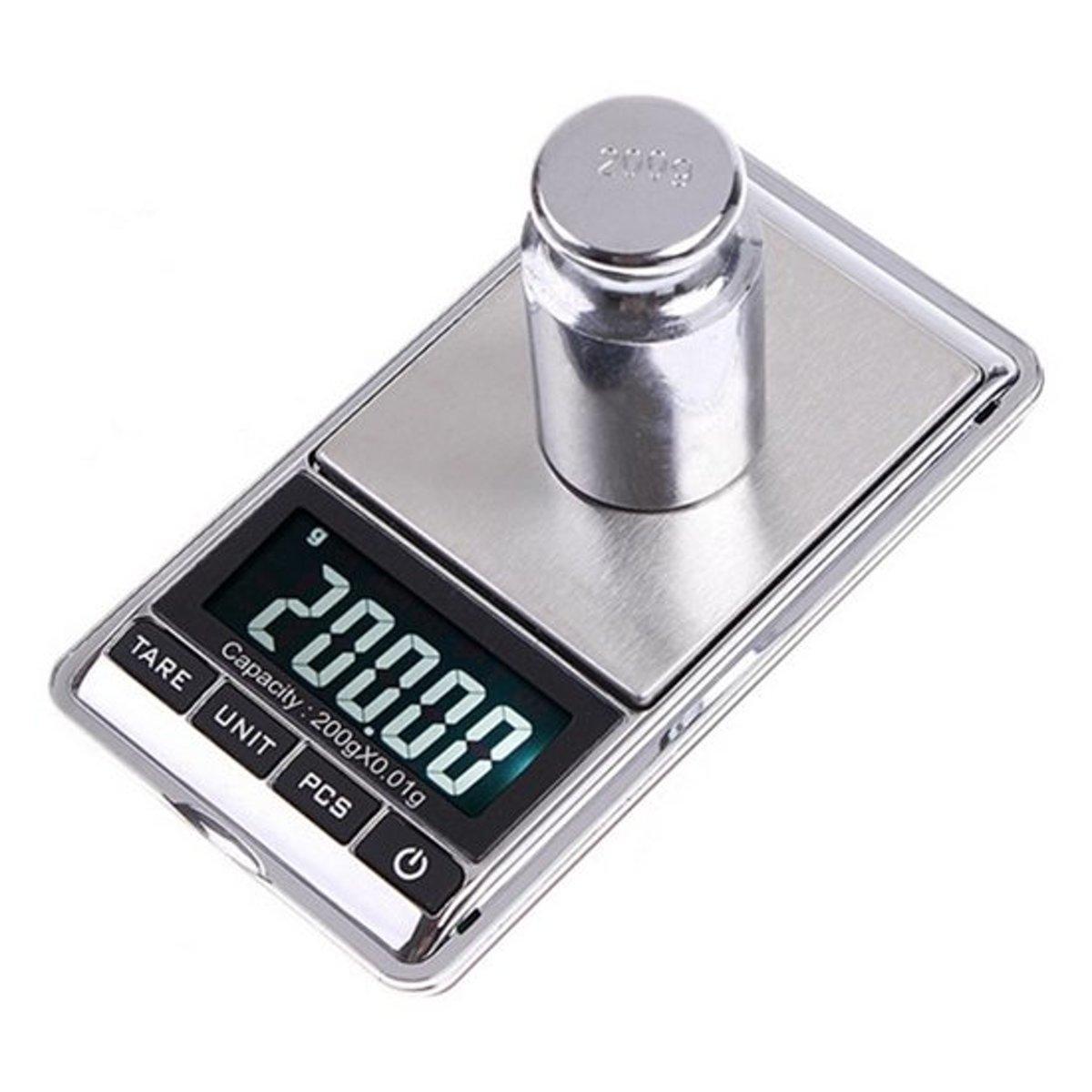 Professionele Digitale Mini Pocket Keuken Precisie Weegschaal Inclusief batterijen - 0,01 tot 200 Gram - Zakweegschaal