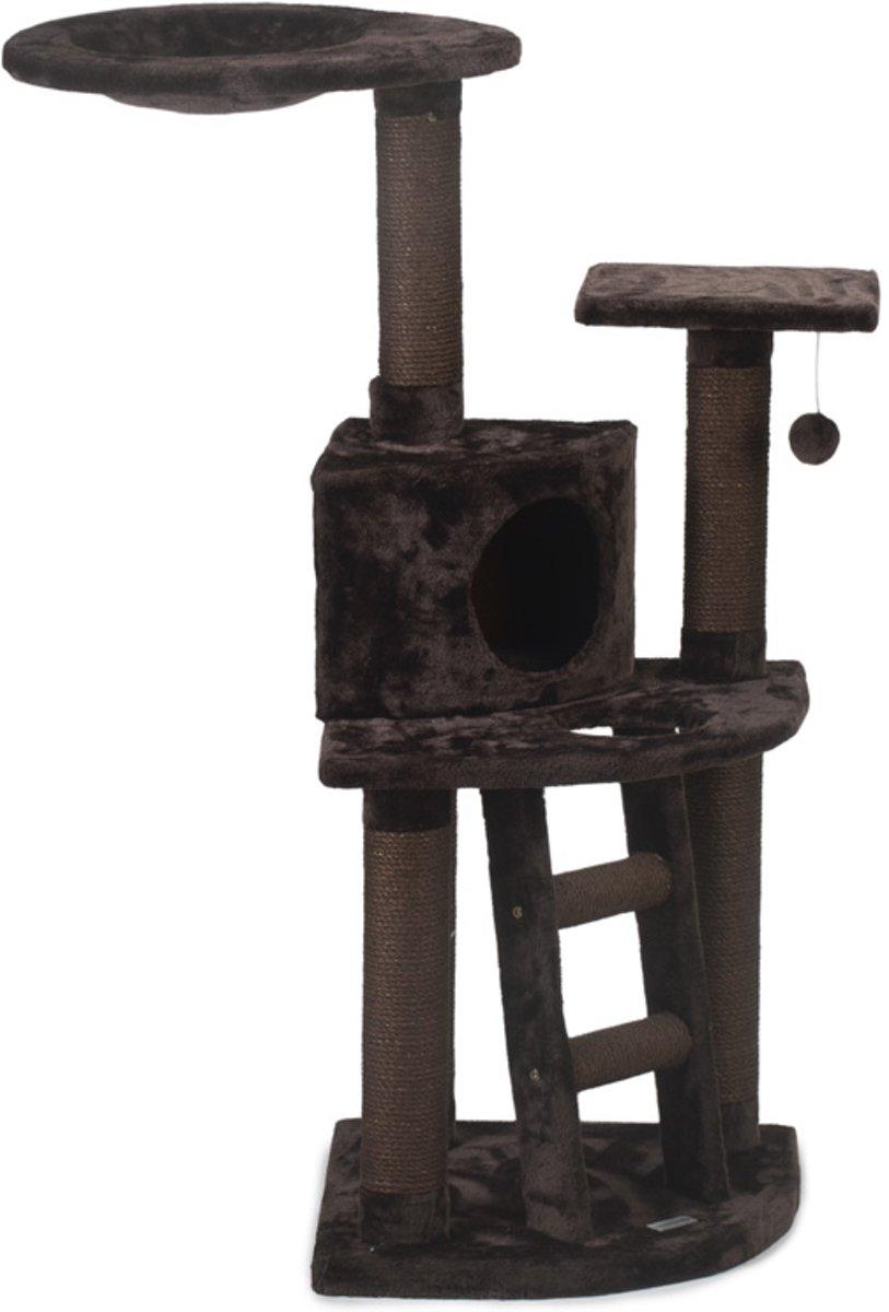 Beeztees Dominjo - Krabpaal - Bruin - 50x50x123 cm