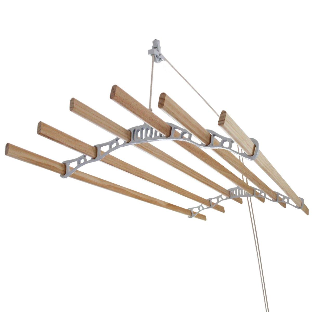 Droogrek Ophangbaar - Plafond Wasrek - Wit - 1.5m kopen