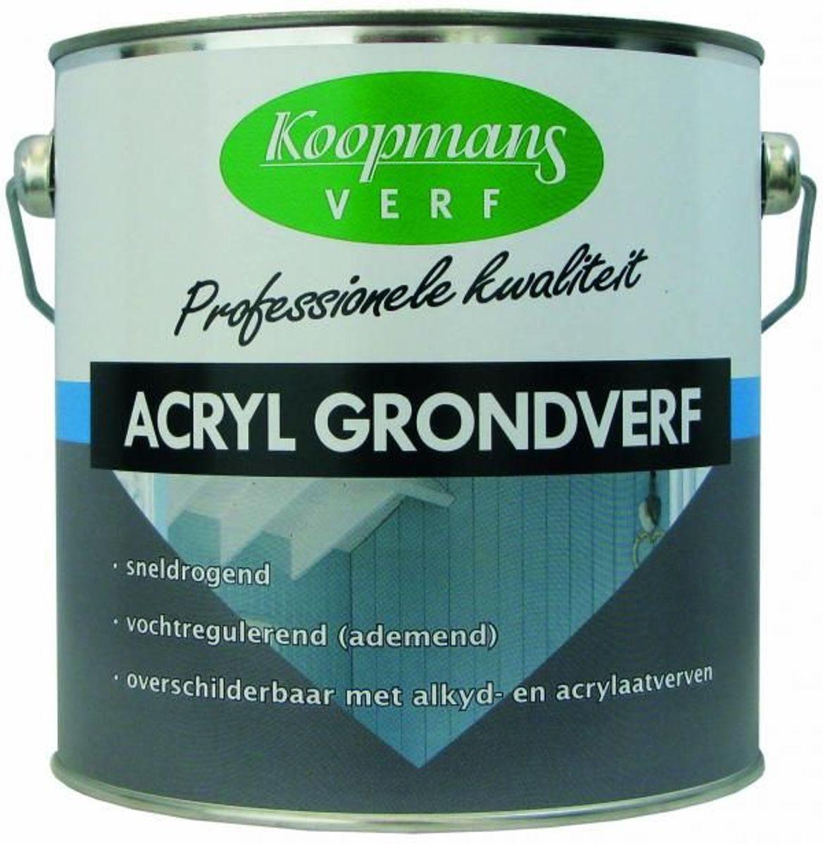 Koopmans Acryl Grondverf 2,5ltr Wit