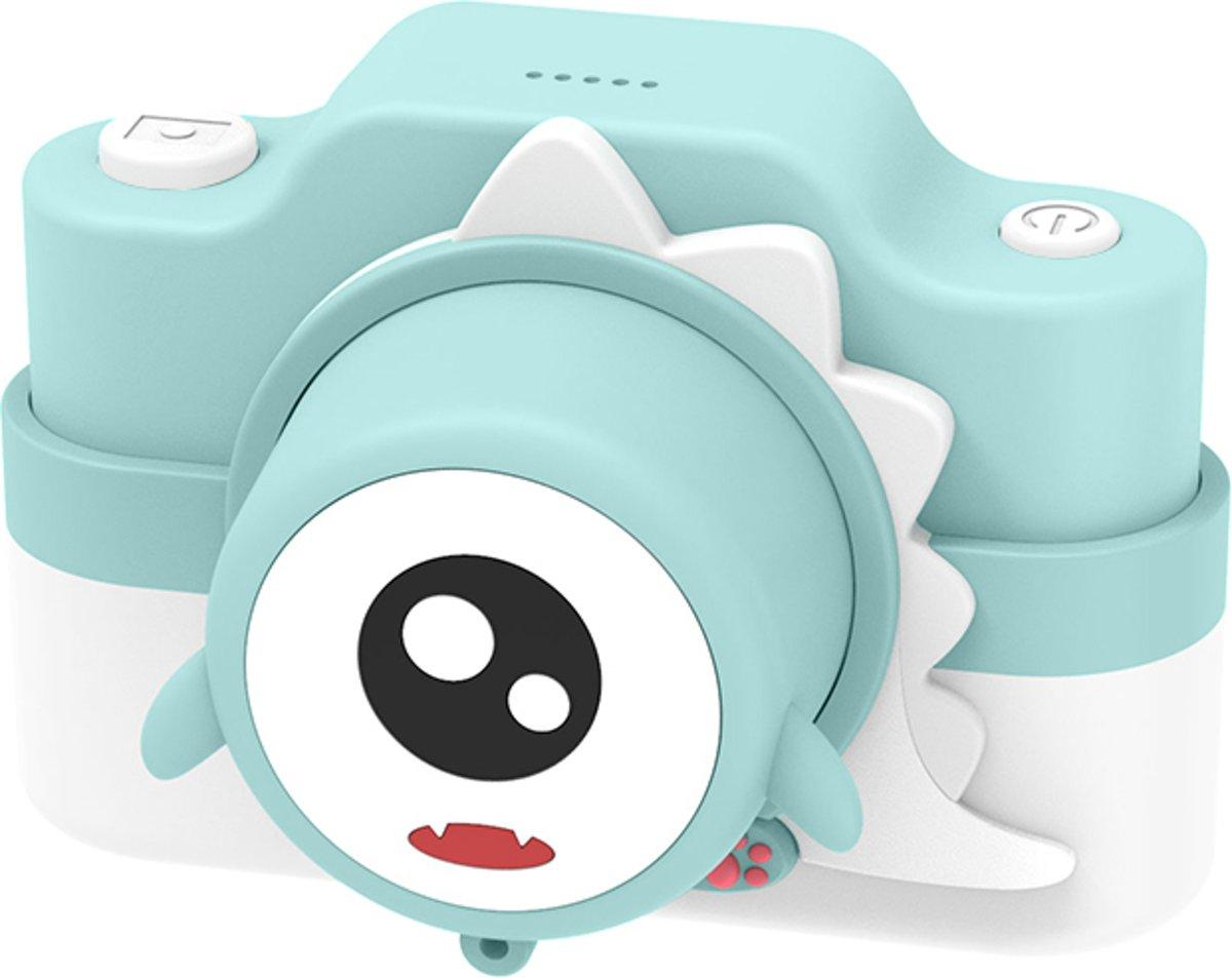 Muntgroene Dino 24 MP digitale kindercamera + Selfie Video
