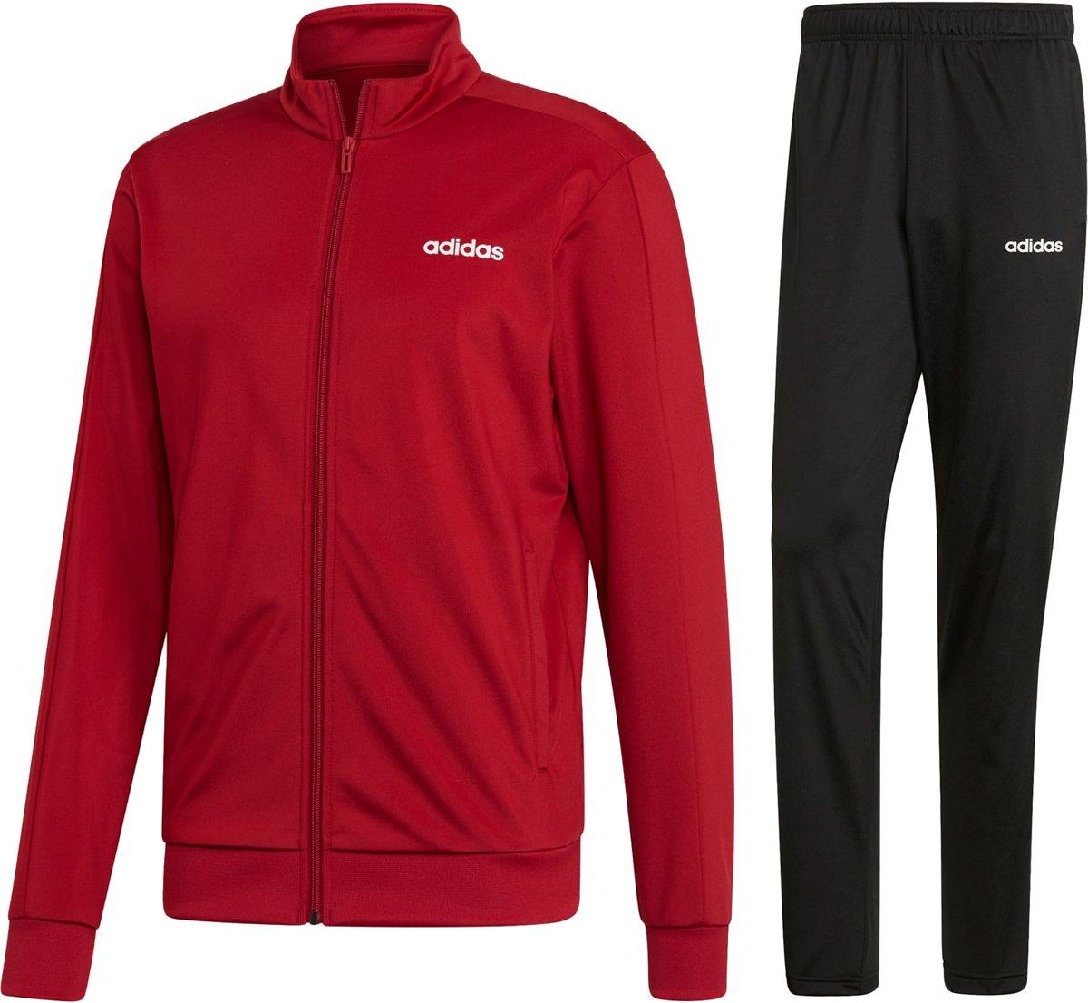 adidas MTS Basics Trainingspak Maat XL Mannen roodzwart