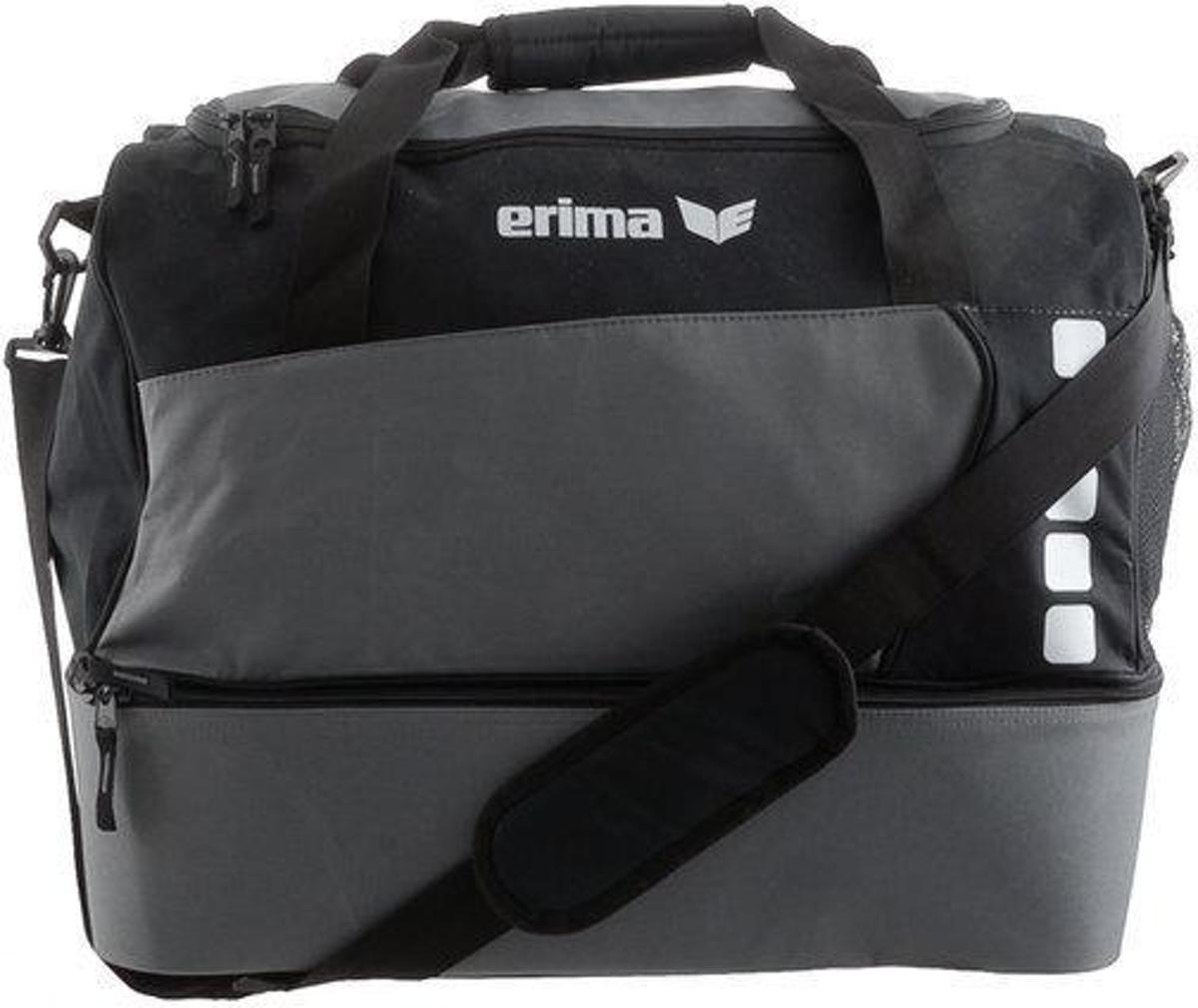 0c215add850 bol.com   Erima Club 5 Line Sporttas met Bodemvak Small - Graniet/Zwart