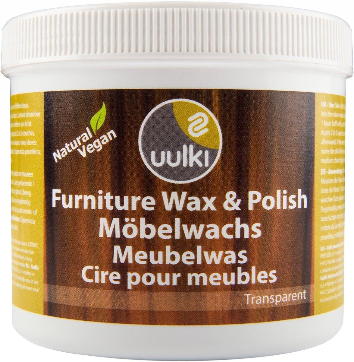 Uulki Meubelwas Boenwas En Polish 100 Natuurlijke En Plantaardige Wax Voor Houten Meubels In Huis Kleurloos 500ml Meubelonderhoud
